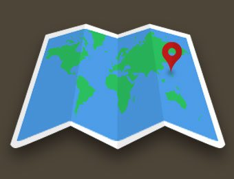 a map with targeted location