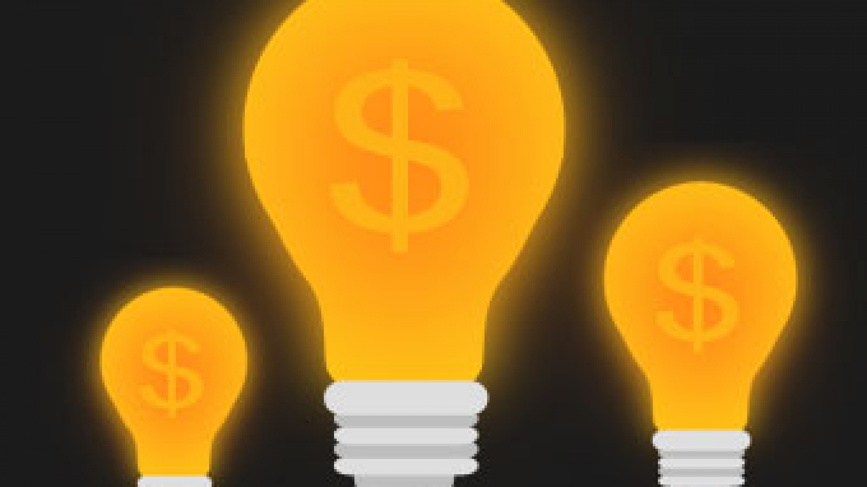 Three Warm Bulbs with Dollar Signs