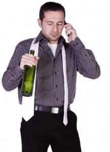 alcoholic on a phone call