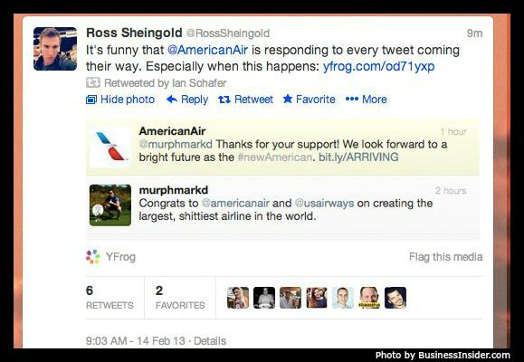American Air Fail Scheduled Tweet