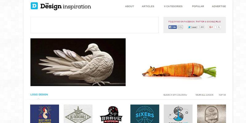 The Design Inspiration website screenshot