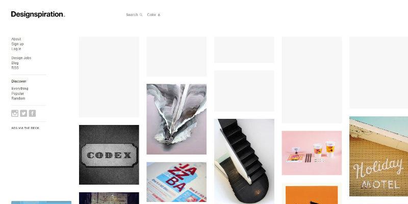 Designspiration website screenshot