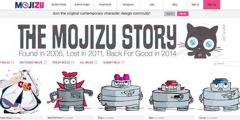 Mojizu website screenshot