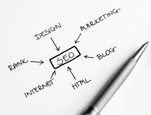SEO and its sub roots written on a white paper