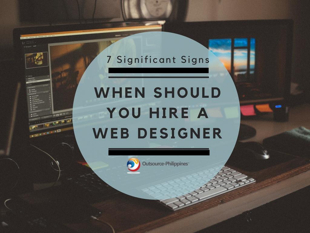 When should you hire a new web designer