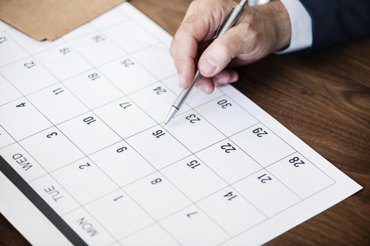 organizing a calendar