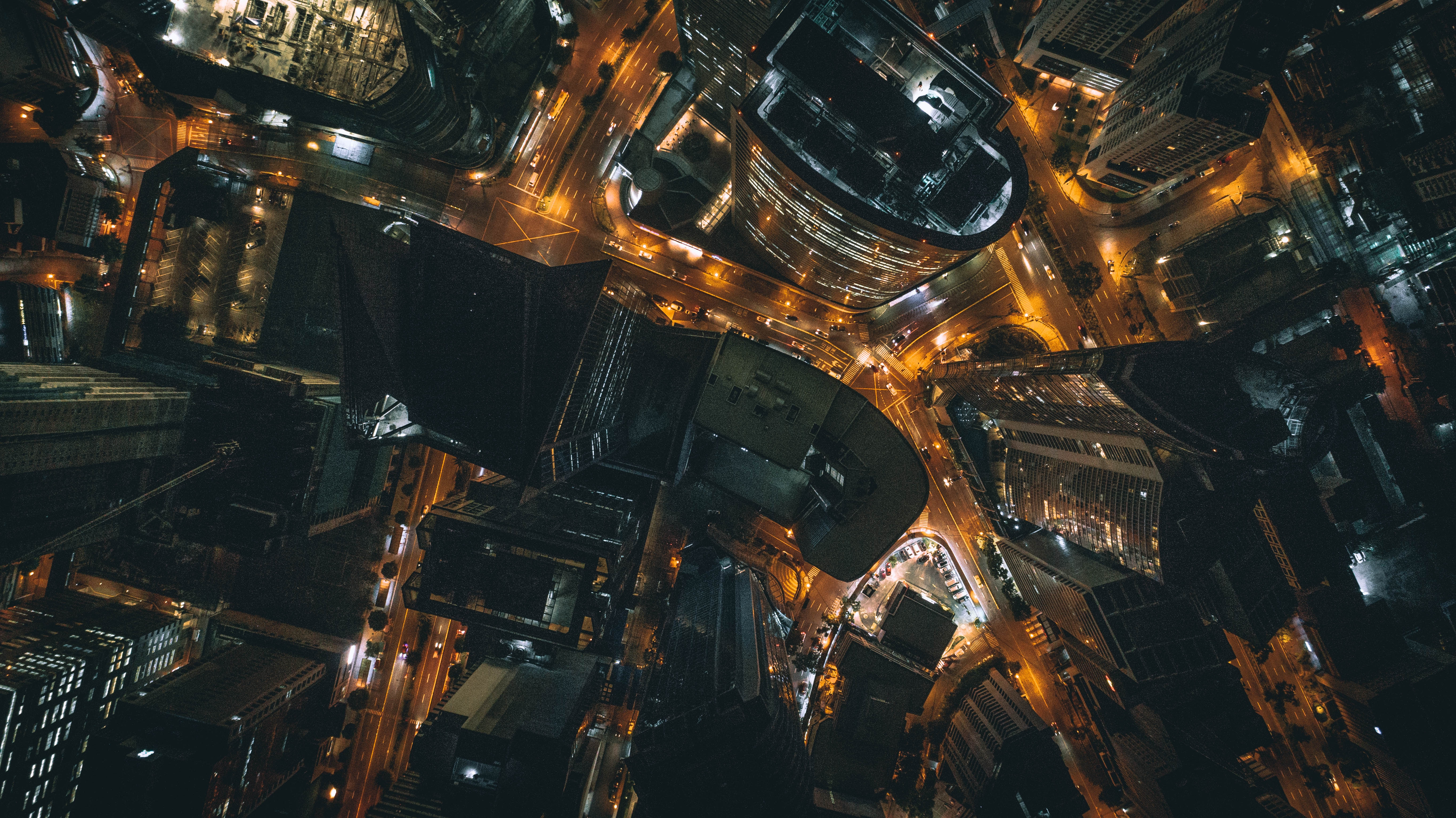 a top view image of the night city in Manila