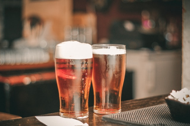 two glasses of beer one of the unhealthy habits in BPO