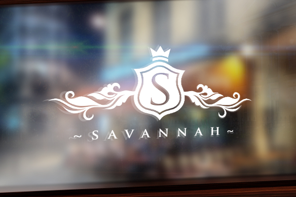 An elegant logo of letter s with white accents for savannah