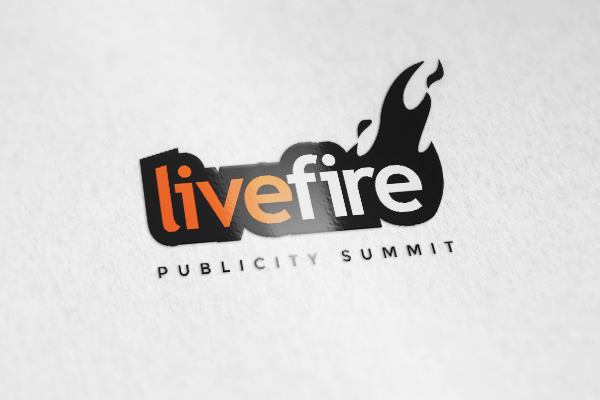 A word live fire with a fire design logo