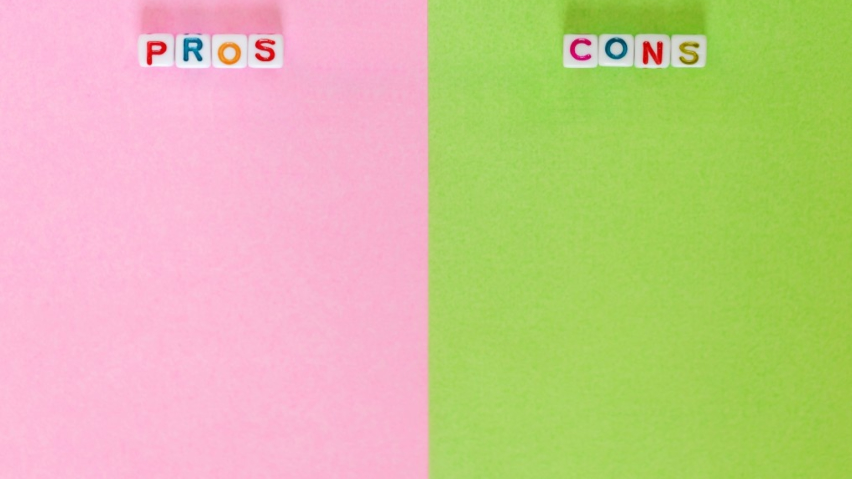 Colorful image of pros and cons of outsourcing