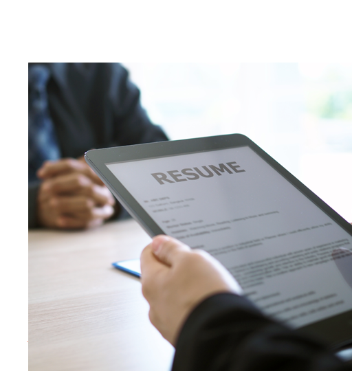 a-hiring-manager-looking-at-the-application-created-by-resume-writer-services