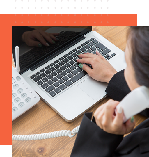 An inquiry handler from Outsource-Philippines speaks with a client over the phone