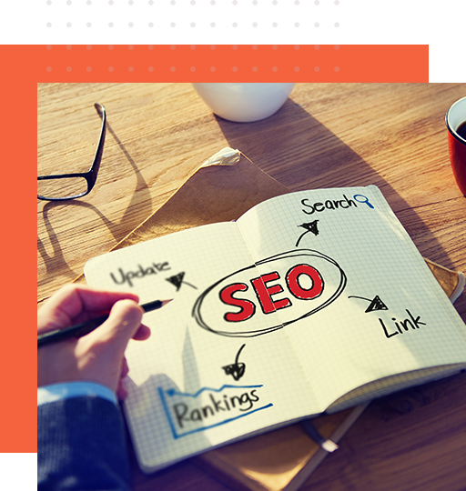 A professional SEO specialist writing down effective strategies and ideas
